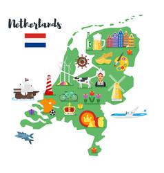 holland national cultural symbols vector image