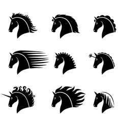 horse head set vector image