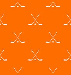 Ice hockey sticks pattern seamless vector