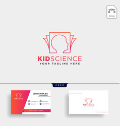 kids learning science creative logo template icon vector image