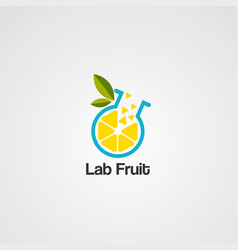 lab fruit logo icon element template vector image