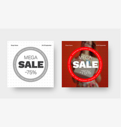 layout a square banner for a big sale with a vector image