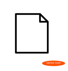 Linear image of a blank sheet of paper a vector