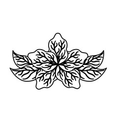 Lotus flower isolated icon vector