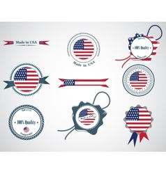 made in usa - set seals badges vector image