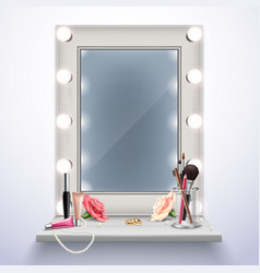 makeup mirror realistic composition vector image