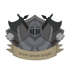 Medieval knight logo Color vector