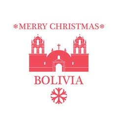 Merry Christmas Bolivia vector