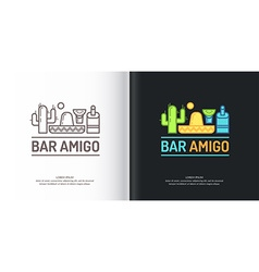 Mexican bar logo vector image