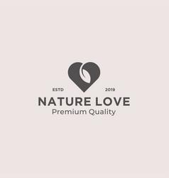 nature love logo design inspiration vector image
