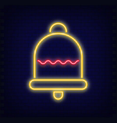 neon christmas bell vector image