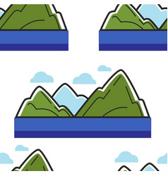 norway mountains and sea or ocean landscape vector image