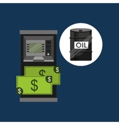 Oil and petroleum industry cash machine dollar vector