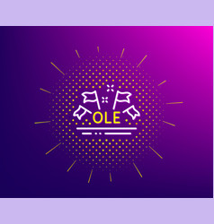 ole chant line icon championship with flags sign vector image