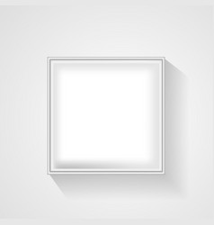 open white empty gift box on light background top vector image