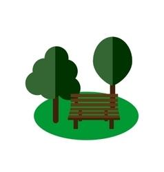 Park bench flat vector image