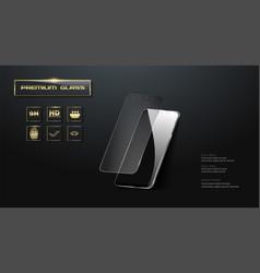 Premium screen protector glass vector