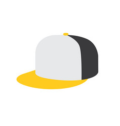 Rap cap icon vector