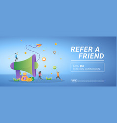 Refer a friend concept earn referral commission vector