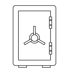 Safe icon outline style vector image
