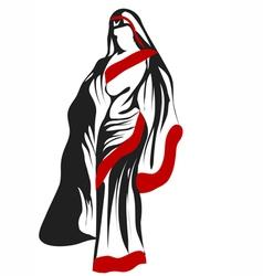 sari woman vector image