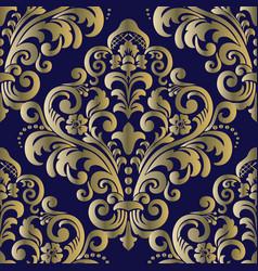 seamless oriental pattern vintage floral seamless vector image
