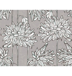 Seamless pattern with chrysanthemum vector