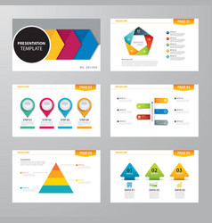 Set of infographic presentation template vector