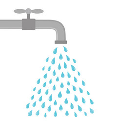 silver tap with water design for icon vector image
