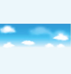 sky with clouds background vector image