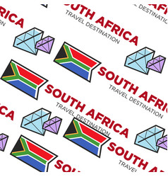 south africa travel destination seamless pattern vector image
