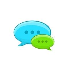 Speech bubble conversation icon cartoon style vector image