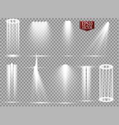 Spotlights scene light effects glow vector