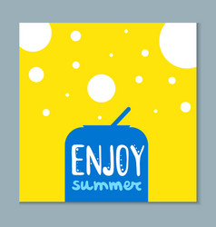 summertime card with cute lettering vector image