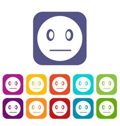 Suspicious emoticons set vector