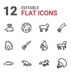 tail icons vector image