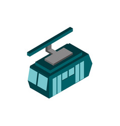 transport cableway vehicle isometric icon vector image
