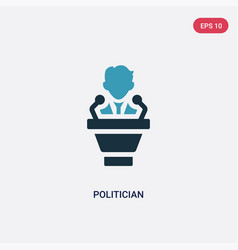 Two color politician icon from professions vector