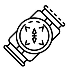 underwater compass icon outline style vector image