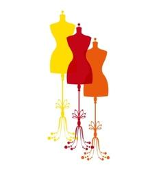 Vintage tailors mannequin vector