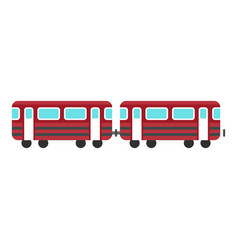 Wagons train icon flat style vector