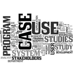 what are use case studies text word cloud concept vector image