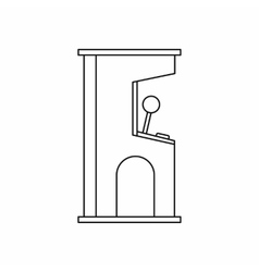 Arcade game machine icon outline style vector image