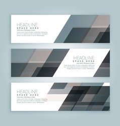 business style web banners set of three vector image vector image