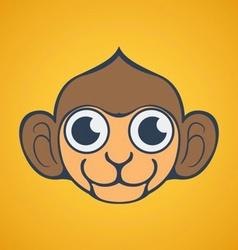 Cute Monkey Logo vector image vector image