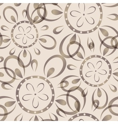Seamless background with imprinted flower pattern vector image vector image