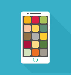 smartphone icon in iphone style smartphone icon vector image vector image