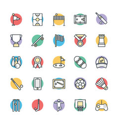Sports Cool Icons 2 vector image