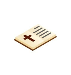 Bible open isometric 3d icon vector image