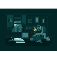Burglar in the apartment vector image vector image